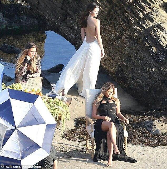 kardashian/jenner beach photoshoot