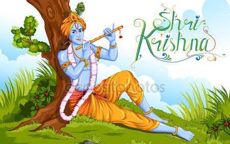 Happy Janmashtami — Ilustración de stock #81742456