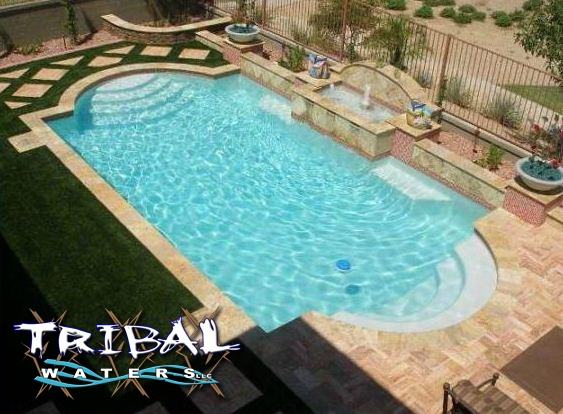 52 best tribal waters custom pool gallery images on for Custom indoor pools