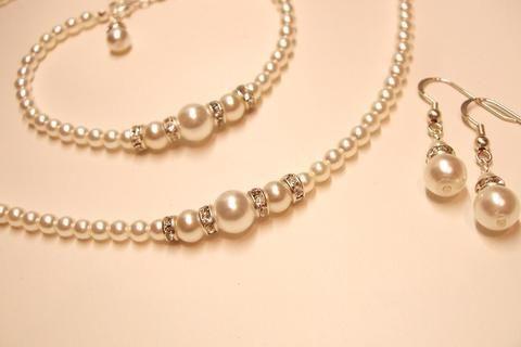 Vintage pearl wedding set - Kathryn