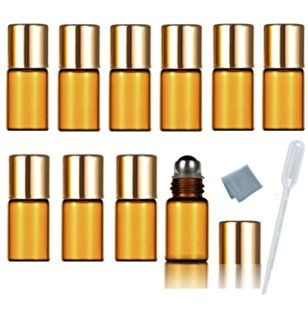 87d0a00bba8d SIMPLE-E 3ml Amber Glass Roll on Essential Oil Empty Perfume Bottle ...