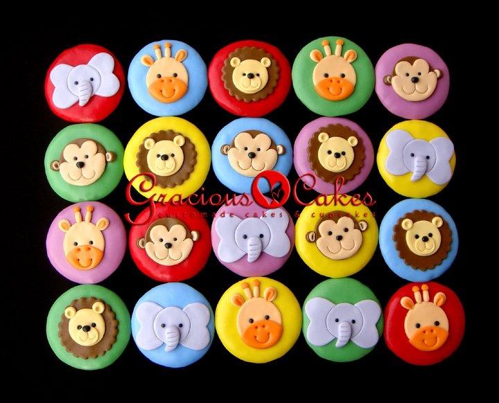cupcakes - animals @Gracious Cakes