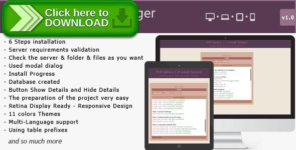 [ThemeForest]Free nulled download PHP Installation Manager from http://zippyfile.download/f.php?id=50864 Tags: ecommerce, install, install manager, install php, install script, install wizard, installation, installation wizard, manager install, php install