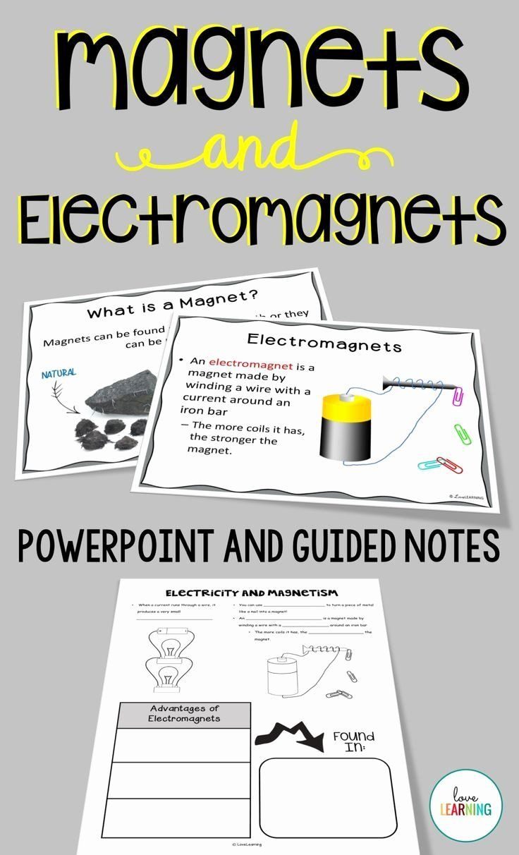 Building An Electromagnet Worksheet Best Of Magnets And Electricity Are An Important Part Of A Science In 2020 Electricity Lessons Powerpoint Lesson Science Curriculum