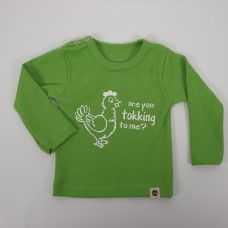 Wooden Buttons longsleeve Tokking to me Green