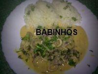 AS PAPINHAS DOS BABINHOS: Strogonoff de lulas - http://aspapinhasdosbabinhos.blogspot.pt/2010/09/strogonoff-de-lulas.html
