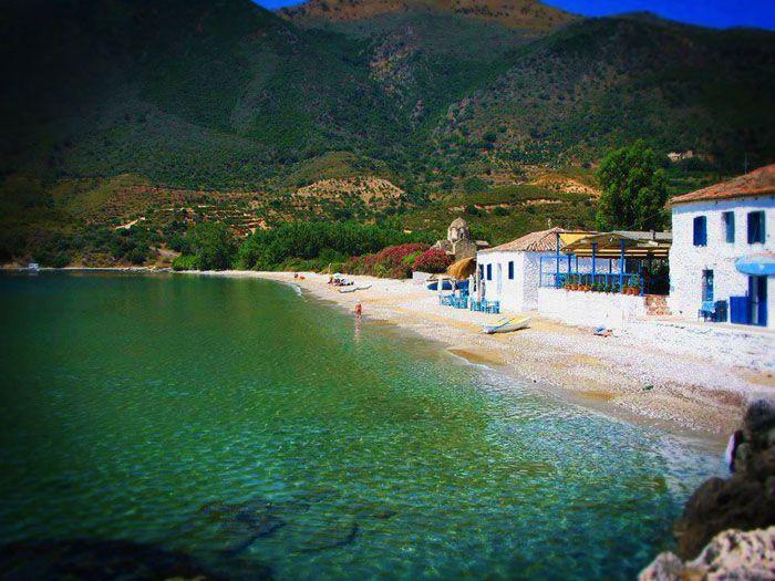 Лучшие пляжи юга Пелопоннеса  района  Мани .