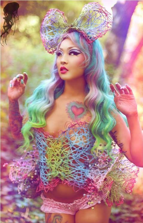 Amelia Nightmare with rainbow hair. Love it!