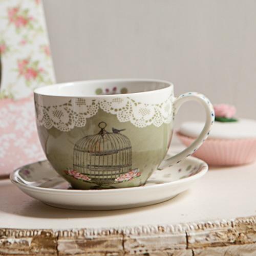 Birdcage Tea Cup & Saucer