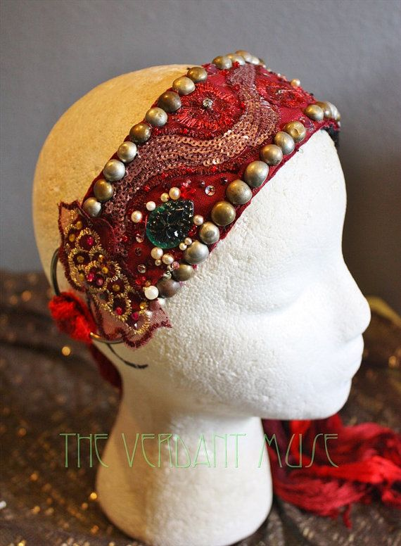 Hey, I found this really awesome Etsy listing at https://www.etsy.com/listing/224303619/tribal-bellydance-headdress-base-red