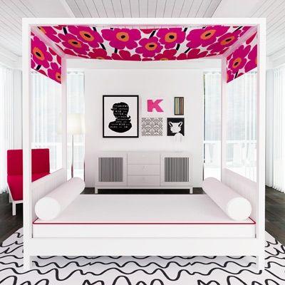 Pink Marimekko makes everything ok. ducduc cabana bed