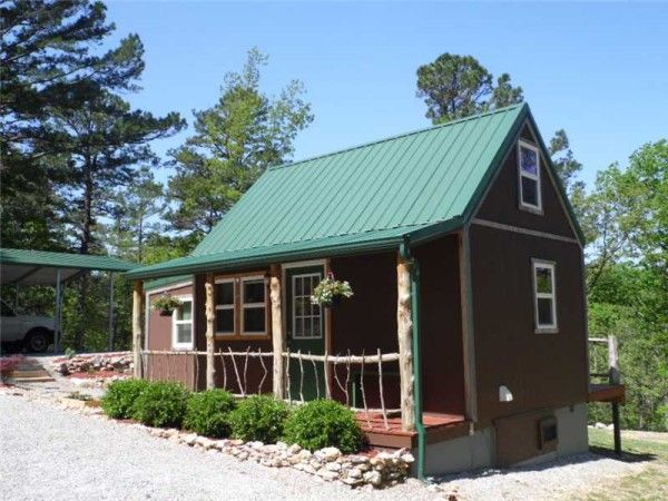tiny home on homestead near eureka springs ak for sale 002 600x450   416 Sq. Ft. Whimsical Tiny Home on 2.79 Acres for Sale
