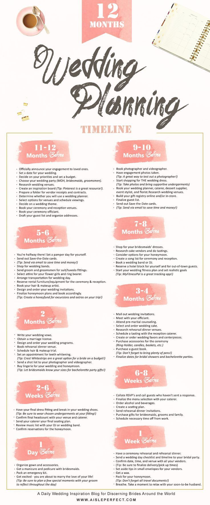 This Handy 12 Month Wedding Planning Timeline To Guide You Through