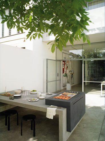 concrete built in table | Brian Hoy Design
