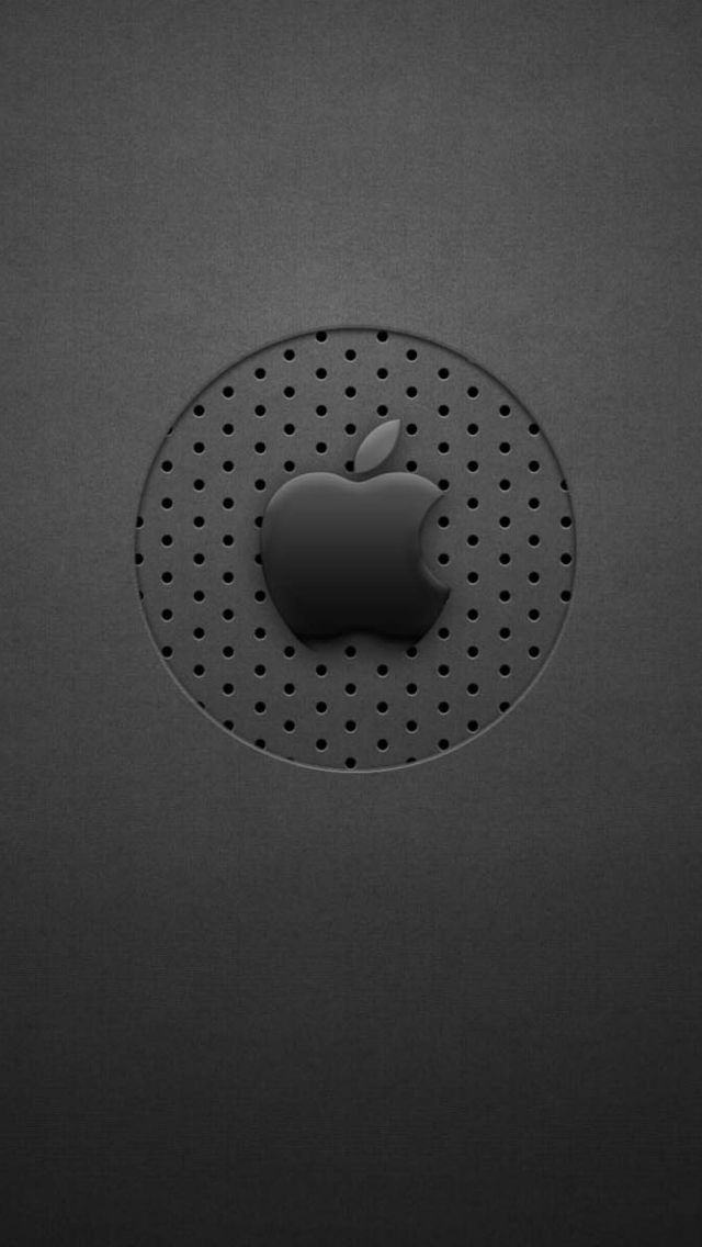 Black Dots Apple Logo IPhone 5s Wallpaper Download