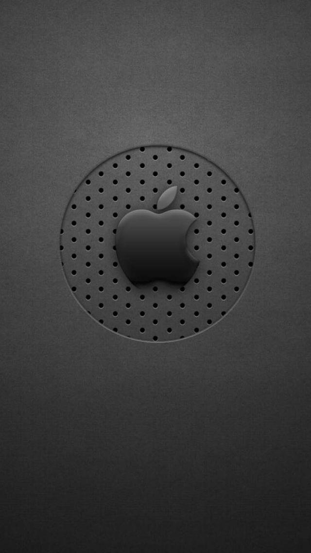Black Dots Apple Logo Iphone 5s Wallpaper Download Iphone