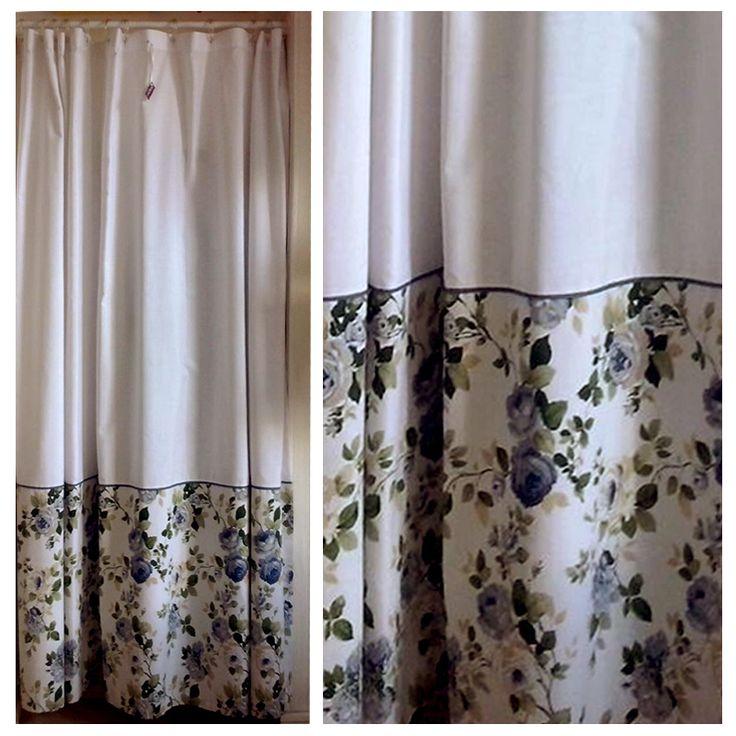 Cortina de baño de flores #baño #cortina #flores