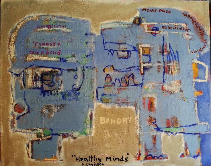 """""""healthy minds"""" R. Davidson (81 x 65 cm)"""