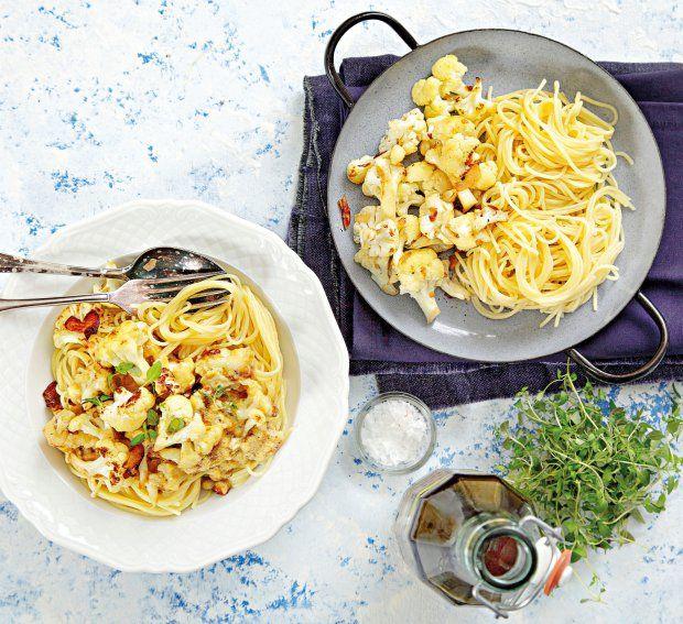 Špagety s květákem a sýrem