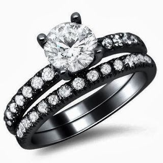 Round Prong Set Diamond Engagement Ring Bridal Set