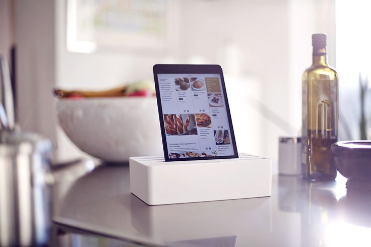 White charging station for a white scandinavian interior!  #charging #cooking