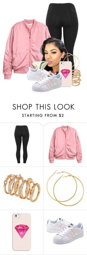 """""""Highlight"""" by melaninprincess-16 ❤ liked on Polyvore featuring H&M, Casetify and adidas Originals"""