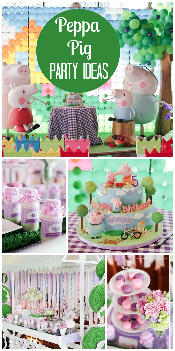Such an incredible Peppa Pig girl birthday party with a balloon backdrop and adorable cake! See more party ideas at CatchMyParty.com!