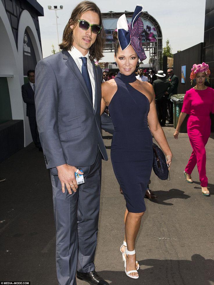 Bollywood actress Tania Zaetta looked chic alongsideChris Rogers at Oaks Day 2014