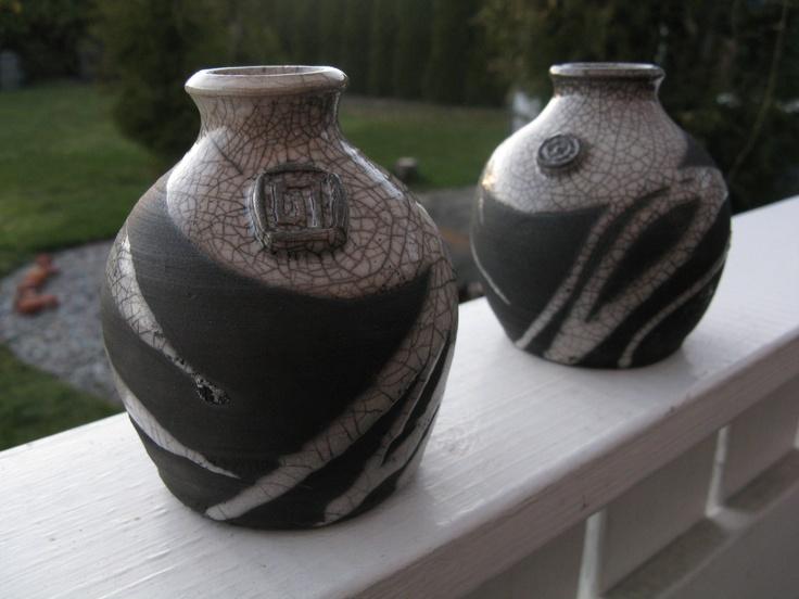 Raku fired pots
