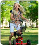 I think having a steerable knee walker like this would be so beneficial for a child with a hurt foot. It would still enable them to go places without having the chance of worsening their injury. Not only that, but the little basket in front helps them to not have anything in their hands!
