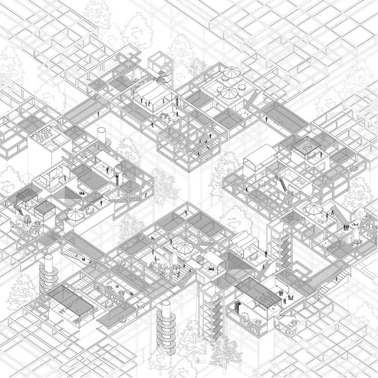 Axonometric view by Dimitrios Sotiropoulos