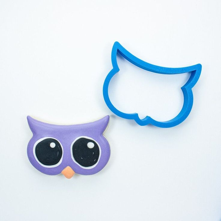 Big Eyes Owl Cookie Cutter - Frosted - 1