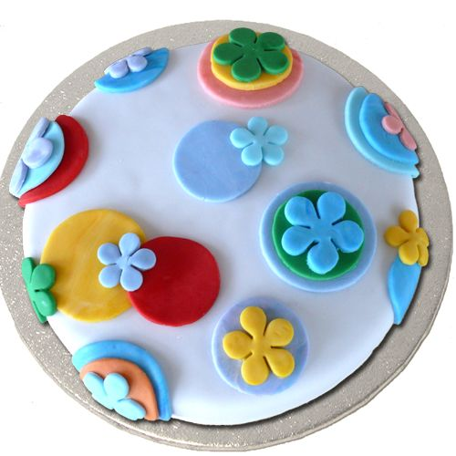 Colourful Fondant covered glutenfree/ lactose free cake!