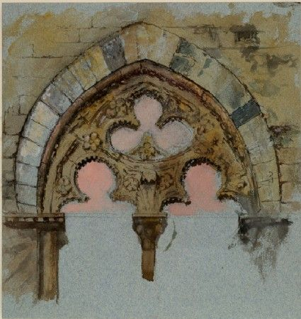 watercolor over graphite on blue wave paper, John Ruskin, 25 - 27 June 1870