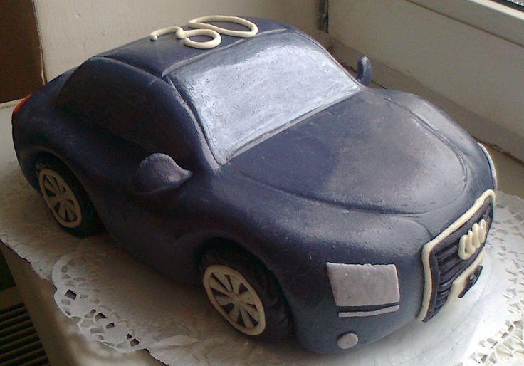 """Торт""""Машина АУДИ"""". Украшен мастикой. Состав: медовик + заварной крем,орехи. Вес ; 4кг Цена:;4800руб."""