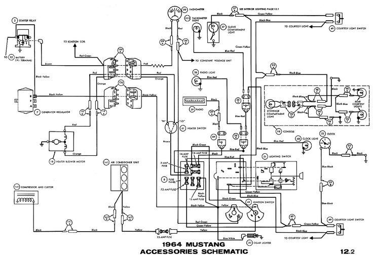 1964 ford mustang wiring diagram in 2021   mustang, 1965 mustang, ford  mustang  pinterest