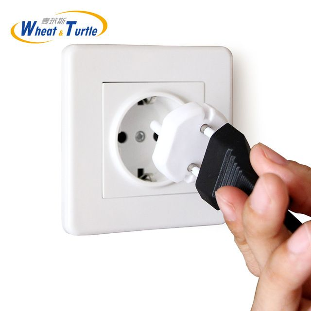 Europe Standard Sockets Cover Baby Children Protection Against Electric Shock ABS Plug Two Pin Phase Outlet Socket Lock