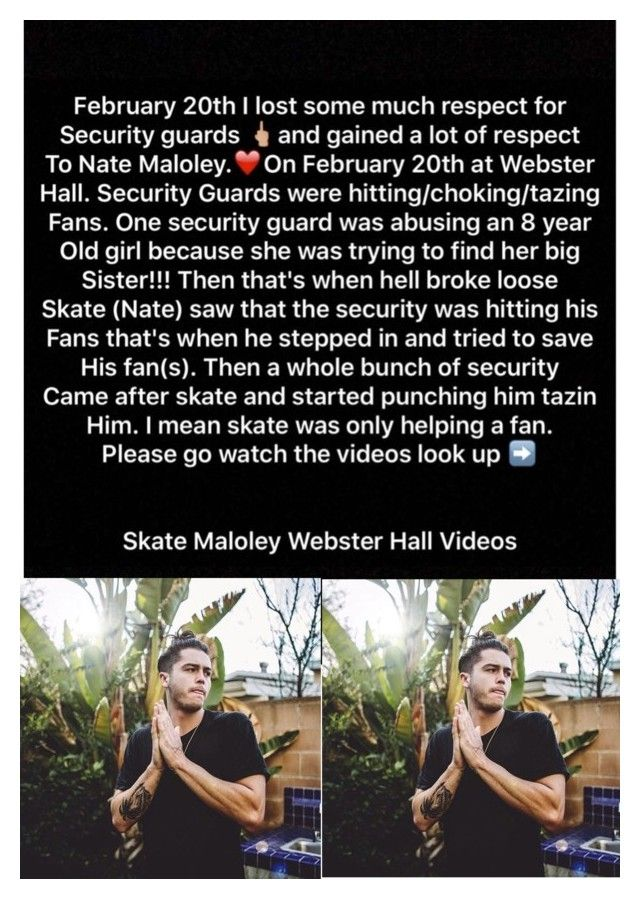"""Go Check Out the Videos : Skate Maloley Webster Hall Videos"" by jasloves5sos ❤ liked on Polyvore featuring art, natemaloley, Skatemaloley, prayforskate and fuckwebsterhall"