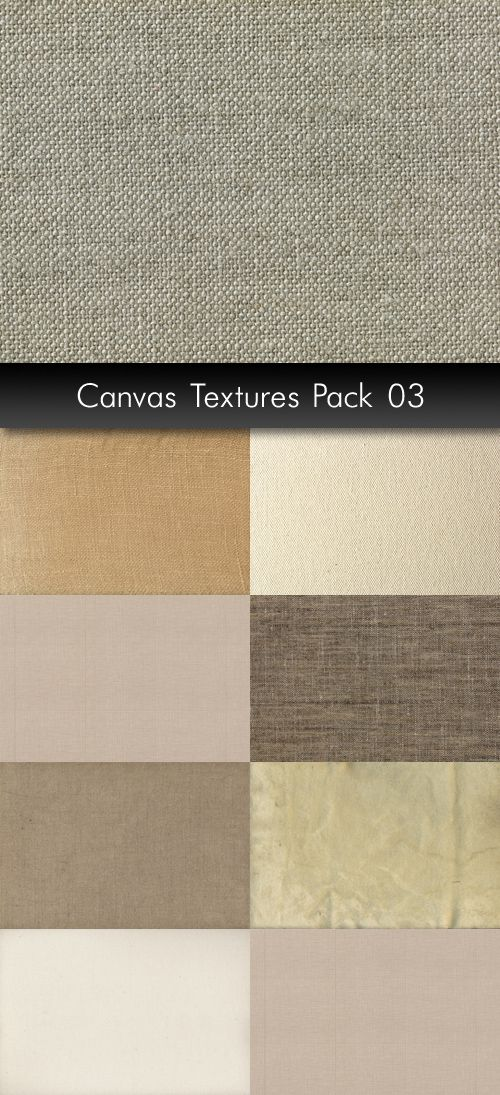 Растровый клипарт - Текстуры холста часть 3 | Canvas Textures pack 3