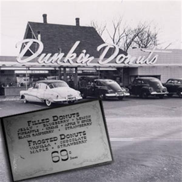 The first Dunkin' Donuts, in Quincy, Massachusetts. Fade here: http://www.whatwasthere.com/b/54798