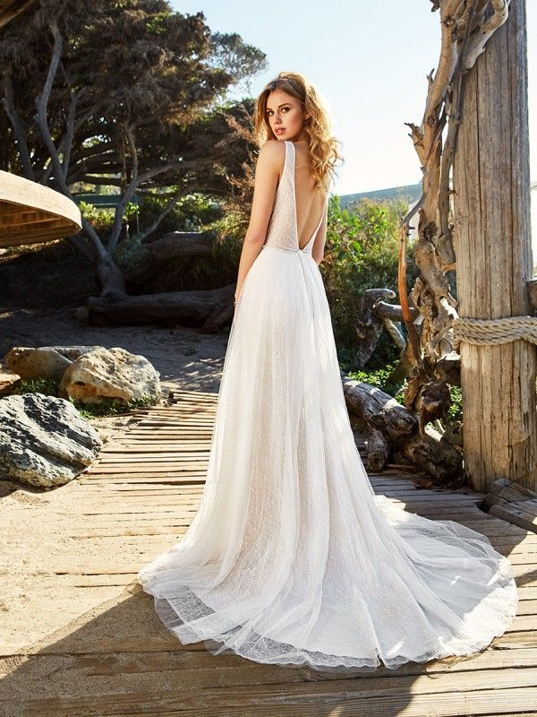Boho Fl Lace Wedding Dress