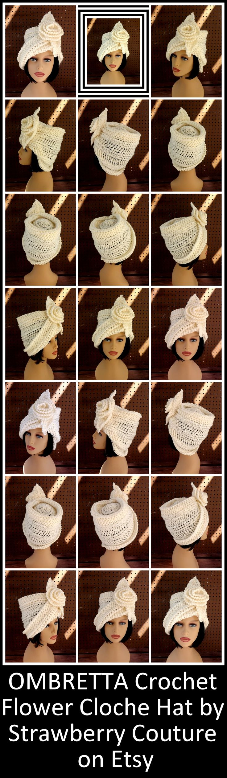 Can purchase Hat or Crochet Pattern!  //  ♡ THIS HAT IS FABULOUS!!! AND SHE HAS MANY MORE, TOO. HERE'S WHAT I THINK... [haha, like you could stop me from sharing! ;)]...IF YOU HAVE TO WEAR A HAT IN THE WINTER, WHY NOT WEAR ONE THAT BIG, BOLD, AND REALLY, WELL, FABULOUS!!!  ♥A