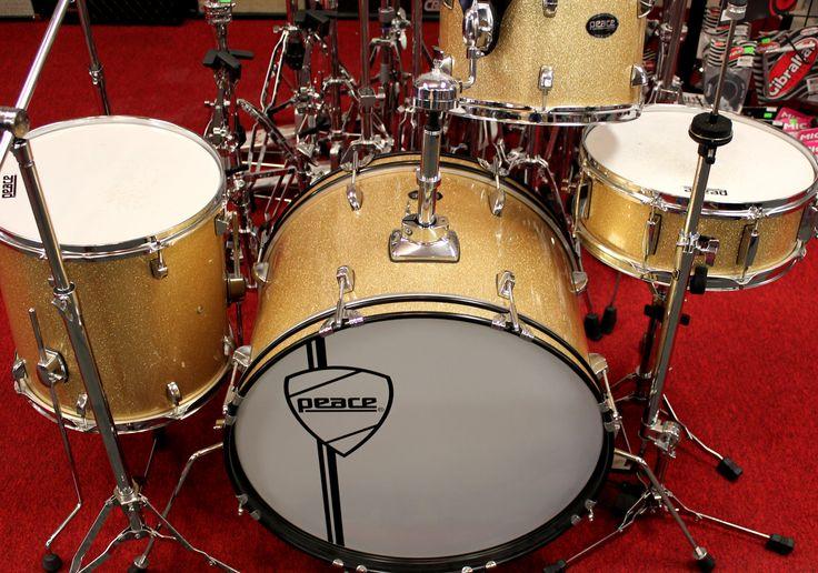 Peace Drums X4 Jazz Gold Sparkle 4 piece Drum Set w/Hardware