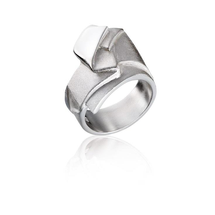 ORIGAMI 62 Silver Ring / Design Zoltan Popovits / Handmade in Helsinki / Lapponia Jewelry