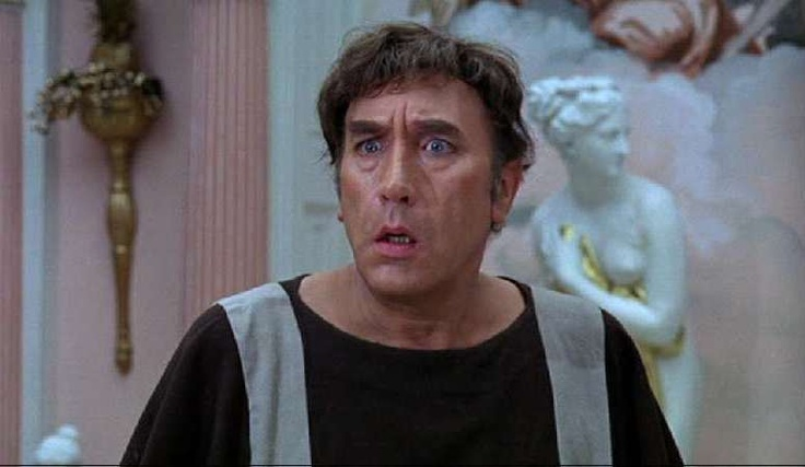 "Frankie Howerd as Lurcio in ""Up Pompeii"" 'Titter ye not'"