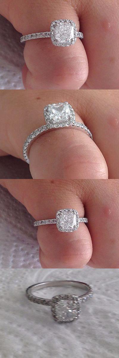 Diamond 67726: 1.55 Ct Radiant Cut Diamond Engagement Ring 14K White Gold -> BUY IT NOW ONLY: $1699 on eBay!