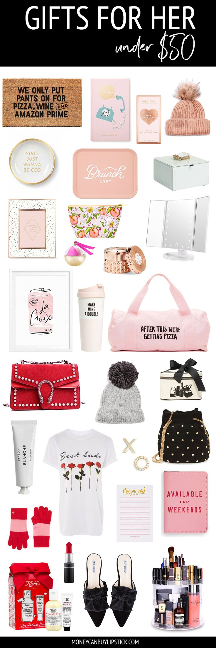 Gifts For Her Under $50 | Christmas Gift Ideas | Holiday Gift Ideas | Best Friend Gift Ideas | Sister Gift Ideas | Affordable Gift Ideas | Girly Gifts