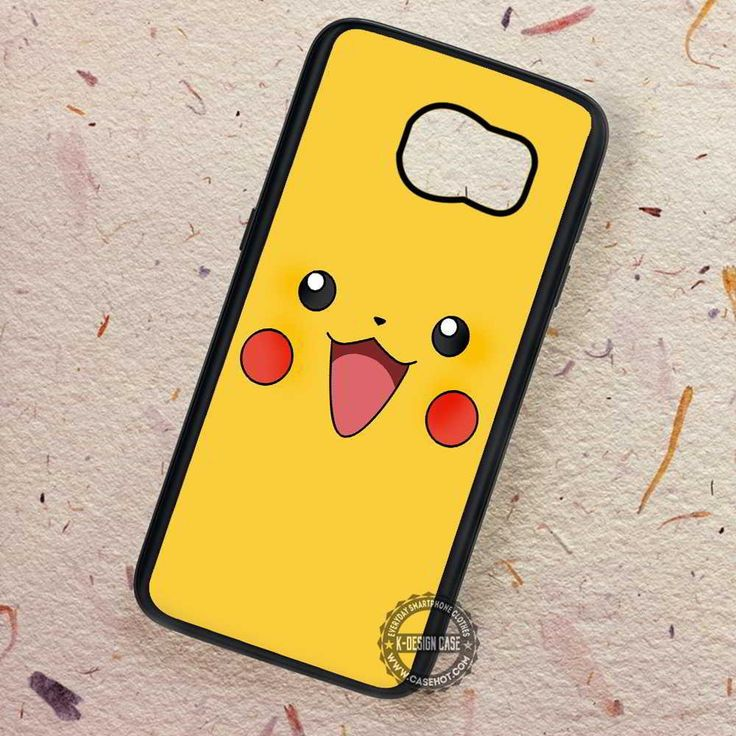 Pikachu Smile Face Cute Pokemon - Samsung Galaxy S7 S6 S5 Note 7 Cases & Covers