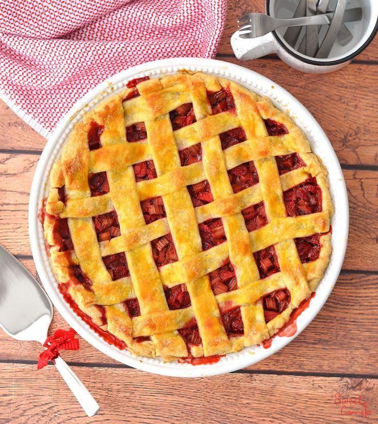 Rhubarb, Strawberry & Ginger Pie – Pay de Ruibarbo, Fresas y Jengibre
