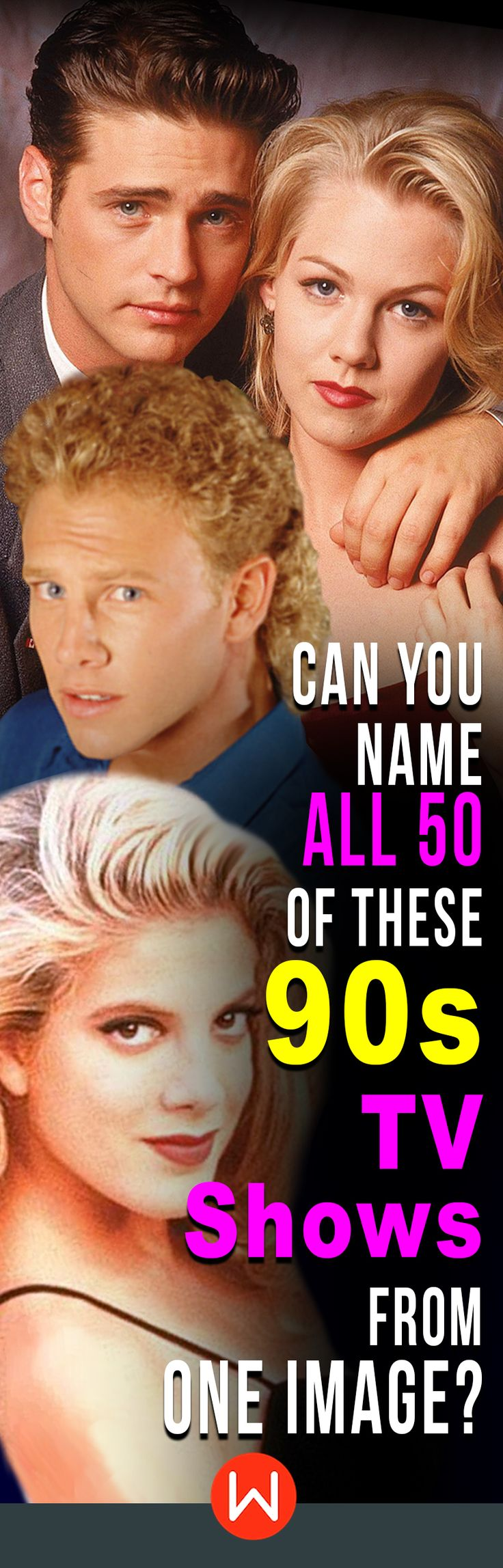 Popular 90s #TVshows quiz! It's the ultimate #flashback Can you name all of these 50 top TV shows from the 90s? 90s pop culture quiz, #90strivia Beverly Hills 90210. Donna Martin,  #AmericanTvshows #1990s. #quiz  #beverlyhills #moviequiz #moviegame #90s